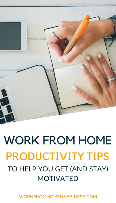 Feeling less than motivated? Use these work from home productivity tips to put a little pep in your step. Plus, productivity quotes to get you inspired to do more in your work day!