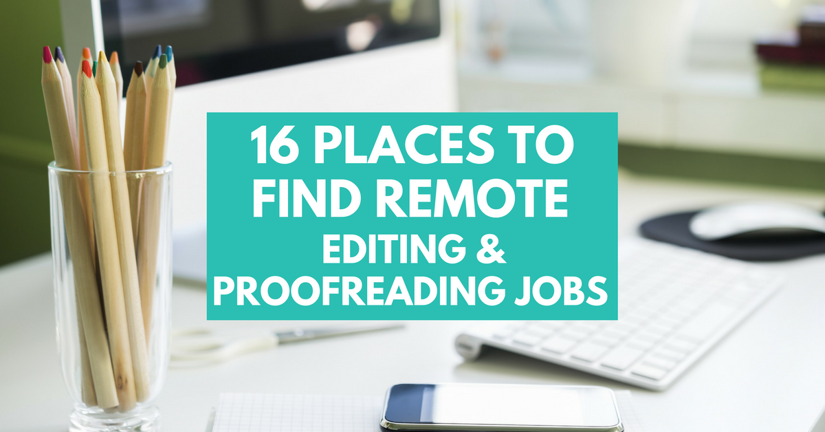 online editing and proofreading jobs