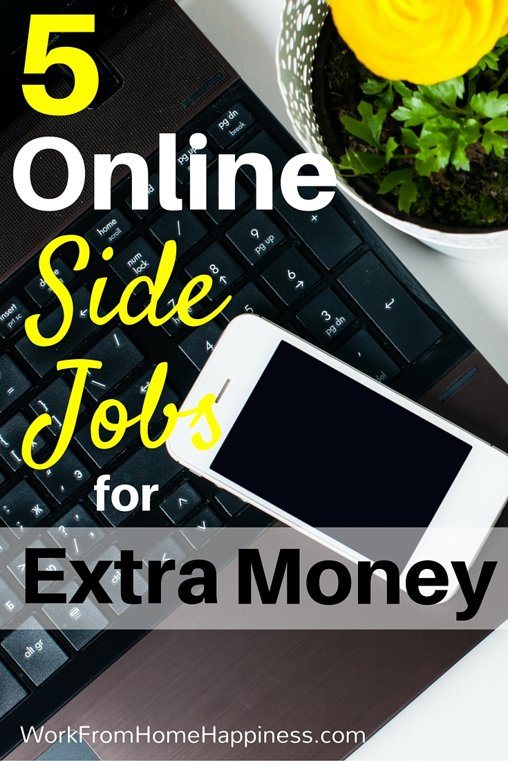 Need a convenient way to earn extra money online? Check out these five online side jobs for inspiration!