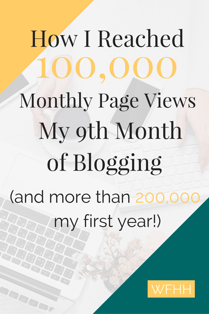 How I reached a 100,000 page views per month goal in just 9 months and doubled that to 200,000 page views three months later just by focusing on 3 simple things.