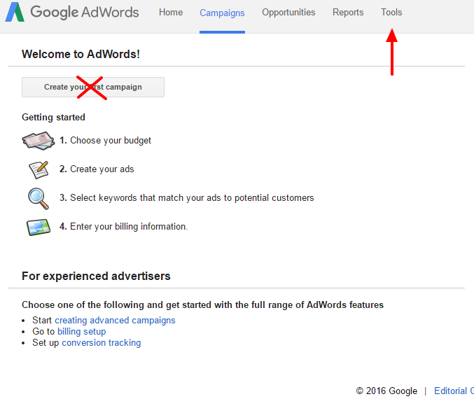 information marketing adwords google keyword planner