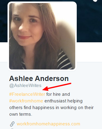 ashlee anderson writes twitter profile freelance writer