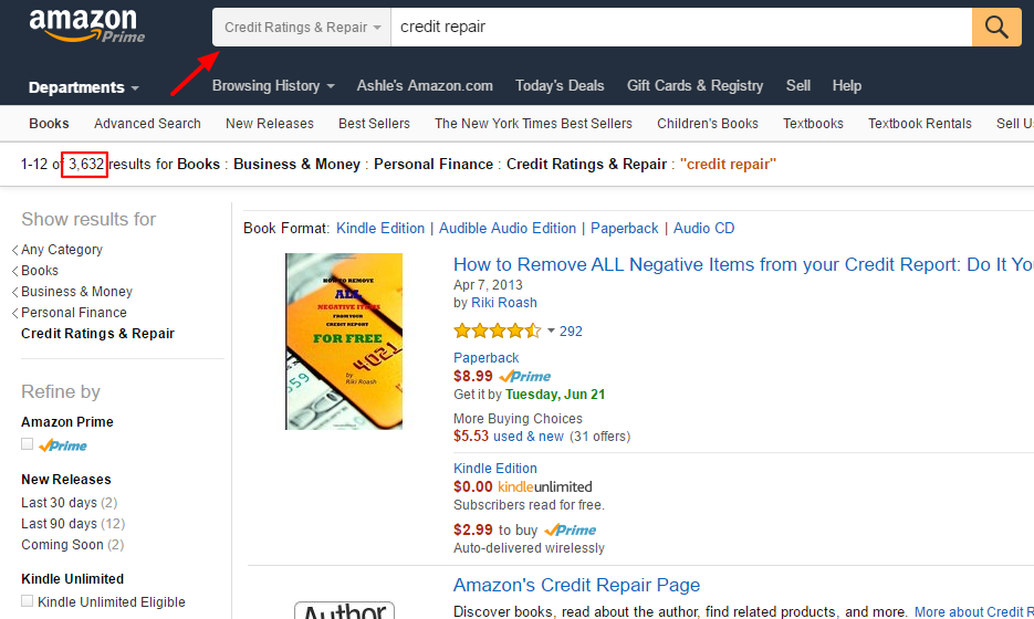 Information marketing using Amazon to validate a profitable niche