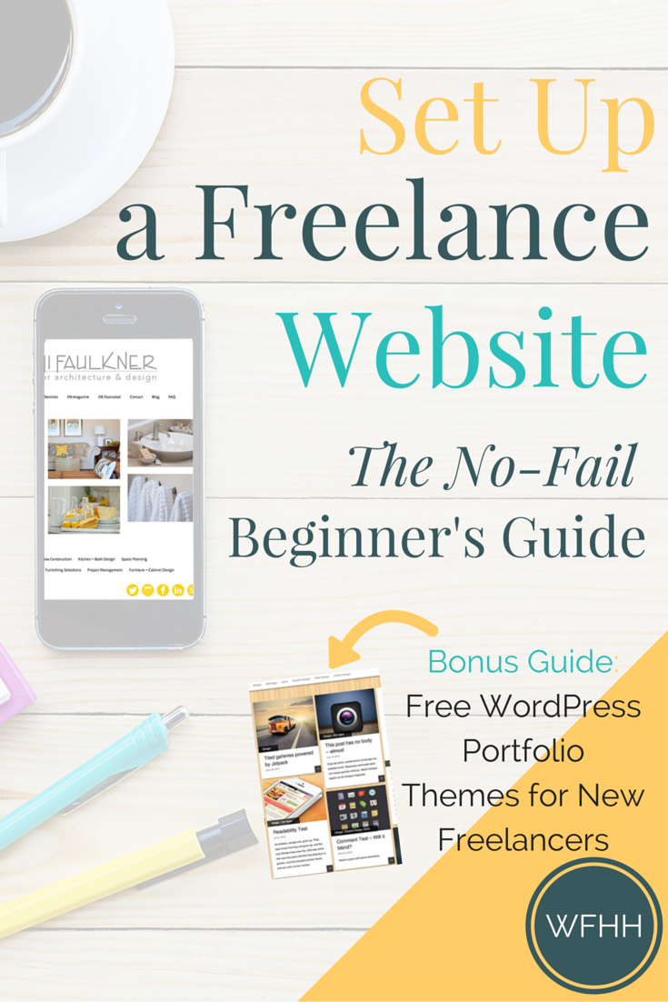 Start a freelance website that sells your services for you for How to learn web designing at home free