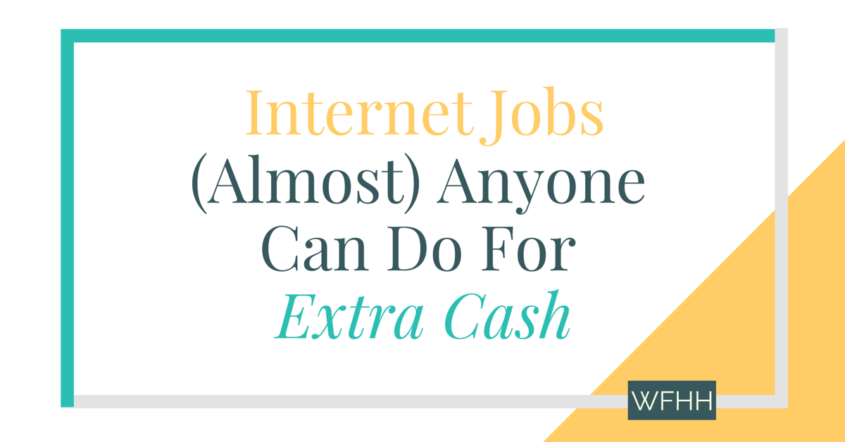 You don't need a ton of experience or special skills to earn money online. With these internet jobs that (almost) anyone can do, it's never been simpler to add extra cash to your income each month. Click through to find out where you can find work and how you can start making more money online!
