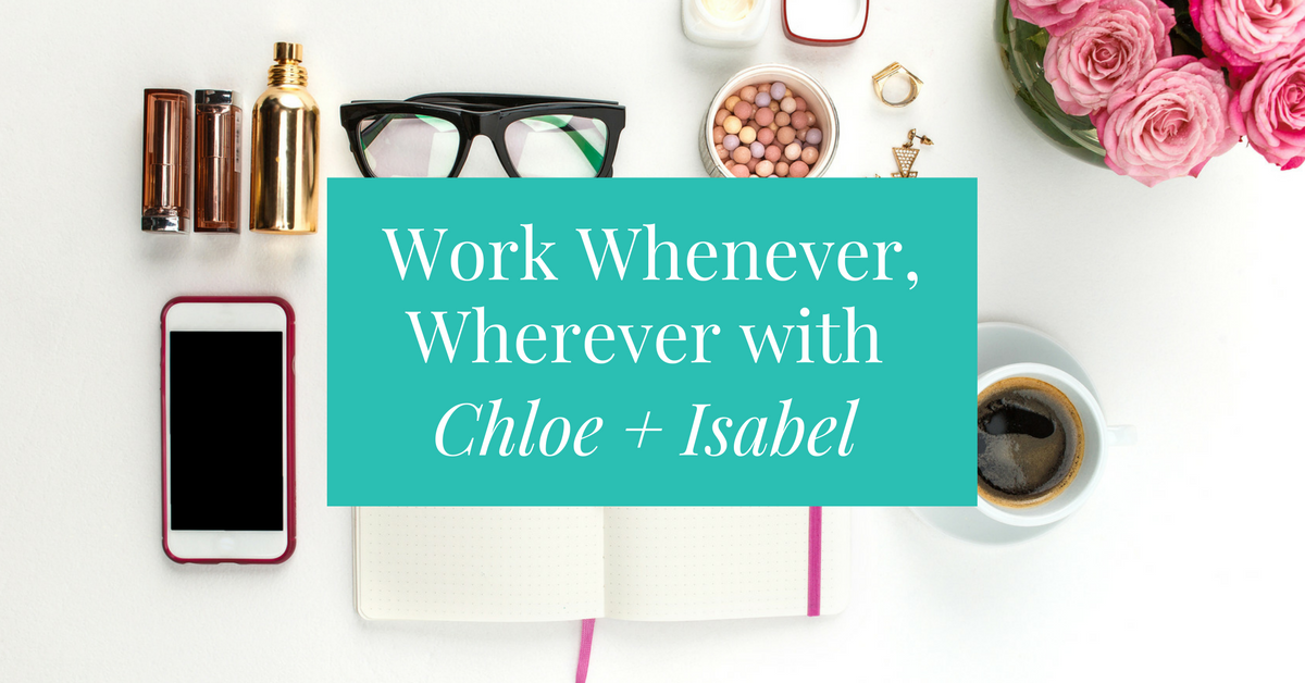 Work whenever, wherever you want when you become a jewelry merchandiser for Chloe + Isabel. This is a fun and flexible way to start and grow your own online business while having the freedom to work as much or little as you'd like. Learn how to get started and why makes Chloe + Isabel an awesomely different way of doing business.