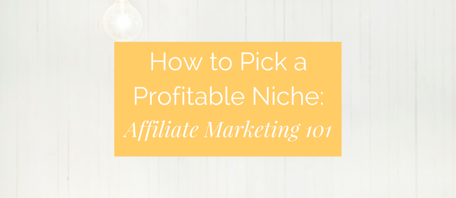 How to Pick a Profitable Niche as a Brand New Affiliate Marketer