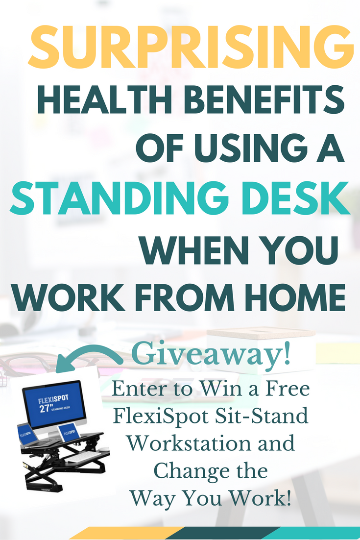 Who knew using a standing desk had so many health benefits? If you spend too much time sitting, you'll want to read this! And enter to win a free sit-stand desk from FlexiSpot!