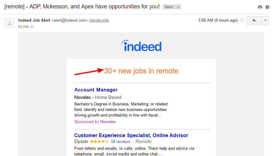 Simplify your work from home job search with Indeed!