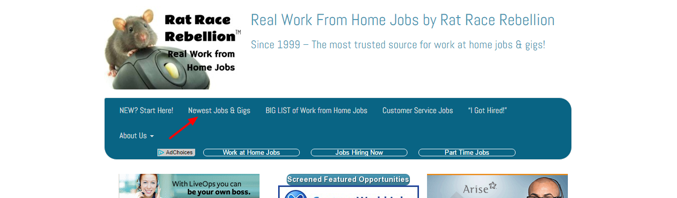 Simplify your work from home job search with Rat Race Rebellion!