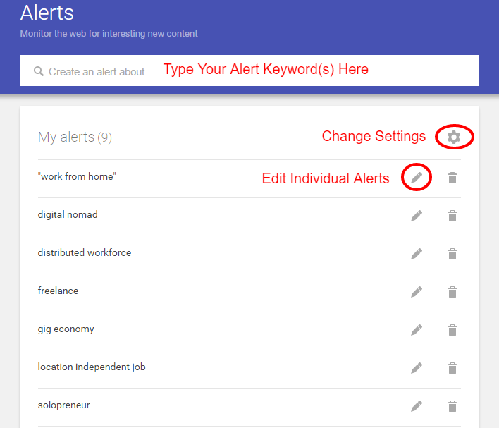 Automate your work from home job search with Google Alerts and get job leads emailed to you daily!