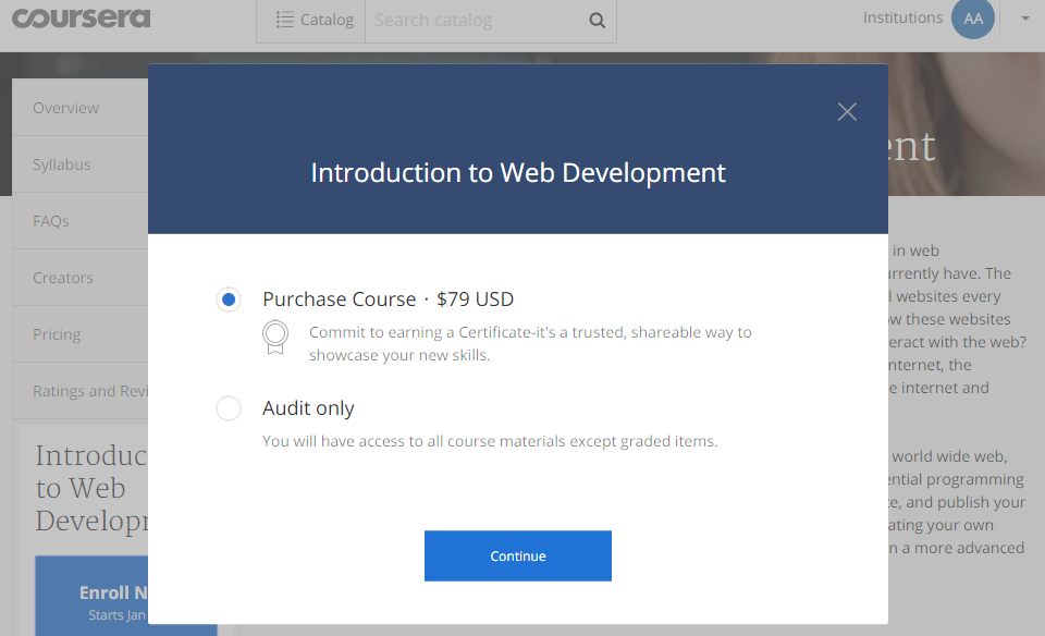 Learn to code for free with Coursera!