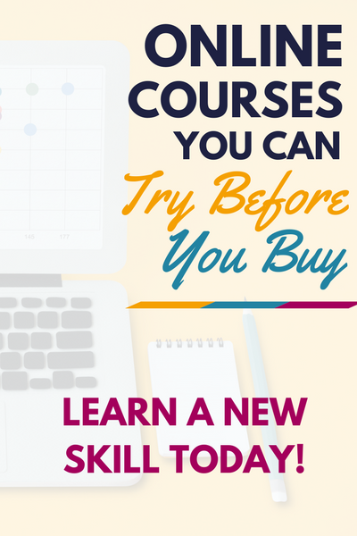 Want to learn a new skill but not sure which course to take? No problem! Check out these online courses you can try before you buy. Learn a new skill today!