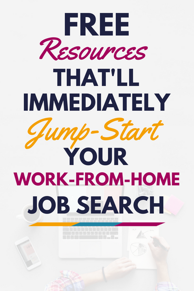 Ready to kick your cubicle to the curb? These free work from home resources will help immediately jump-start your work-from-home job search. Try 'em out, today!