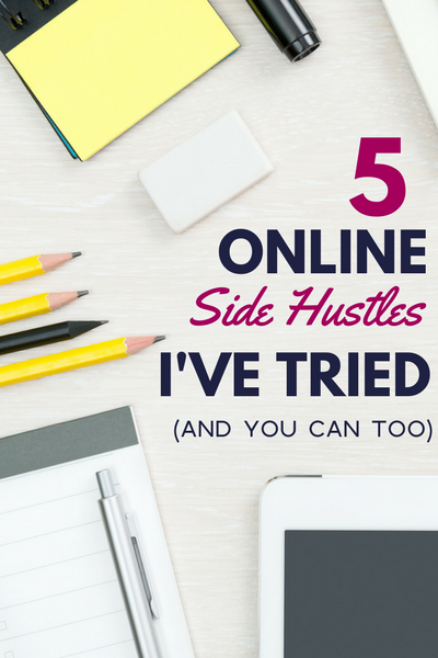 Need a way to earn extra money from home? Check out these online side hustles! They're beginner-friendly and let you to work a flexible schedule! I've tried them all over the years to earn extra money online (and you can too!).