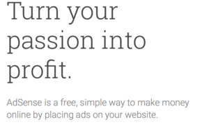 Make passive income online with Google Adsense
