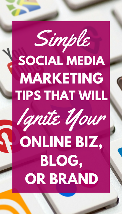Use these simple social media marketing tips to jump-start your online business, blog, or brand and start gaining followers today!