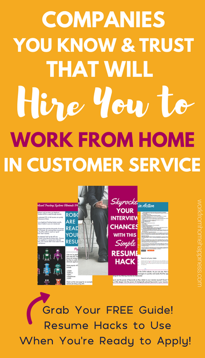 These companies you know and trust will hire you to work from home in customer service. Learn how you can create a customer service career without the call center!