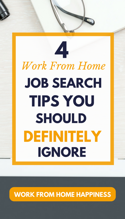 Looking for a work from home job? Make sure you avoid these terrible job tips at all costs.