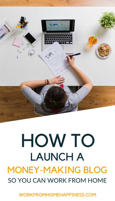 A blogging for beginners guide to launching a money-making blog! Start your own blog today so you can work from home.