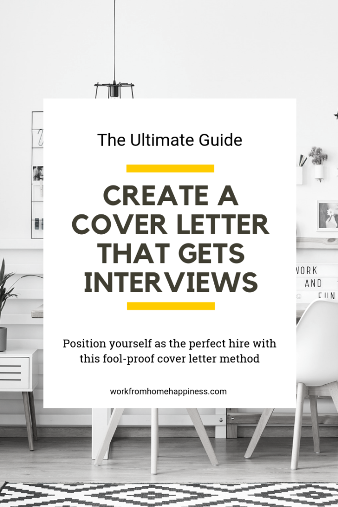 Need to write a work from home cover letter? Use this formula for creating a foolproof work from home cover letter every time!