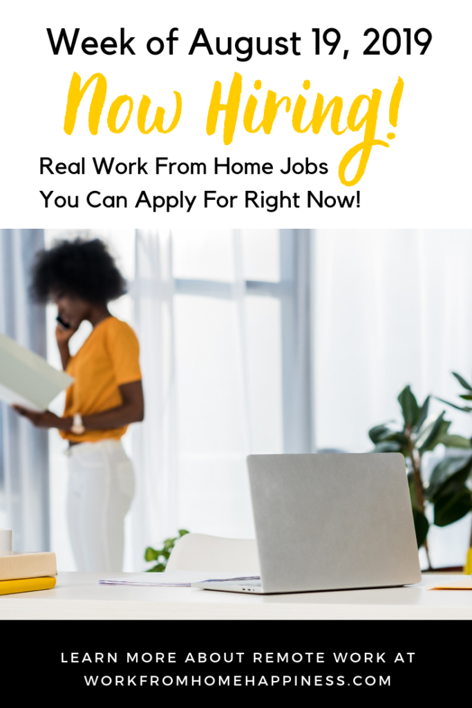 Looking for work from home jobs? Look no further! Here are 10 unique work from home jobs hiring this week. Apply today!