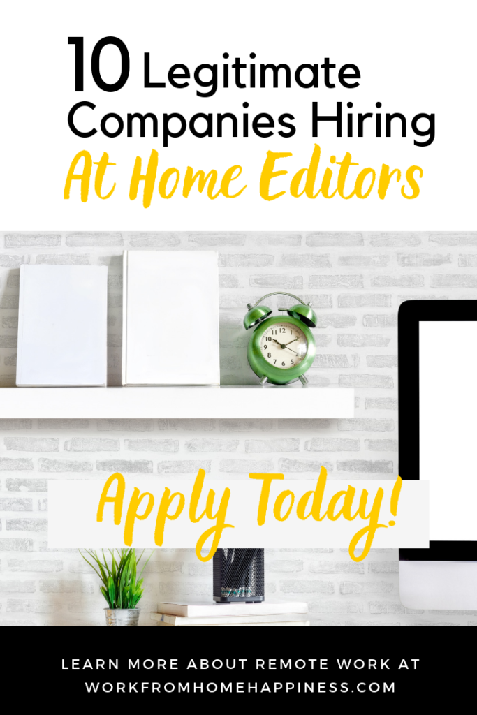 Looking for editing jobs from home? Look no further! These 10 companies are now hiring remote editors.