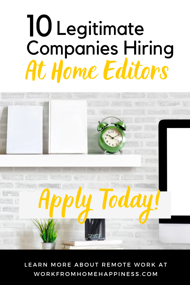 Editing Jobs From Home: 10 Companies Now Hiring!