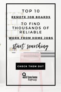Here are the top 10 remote job boards to find thousands of reliable work from home jobs.